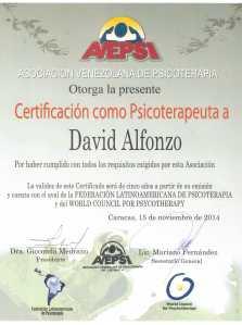 Certificado AVEPSI 2014 2